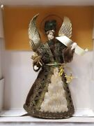 Rare Antique Vintage Christmas Angel Tree Topper Made In Germany 8