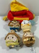 Disney Store Ufufy Beauty And The Beast Small Plush Set Of 4 New Nwt Scented