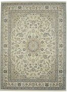 Floral Medallion Design Large 9x12 Hand-knotted Indo-nain Oriental Rug Carpet