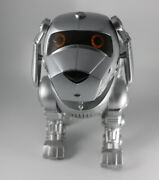 Tekno Interactive Robotic Puppy Dog Silver Vintage 90and039s By Manley Toy Quest