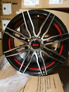 Sold Out Wheels 16x7 +40mm Silver/gloss Black Wheels Rims 16 Inch 4x100