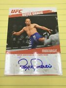 Ufc Topps Round 2 Royce Gracie Blue Auto Trading Card   Awesome