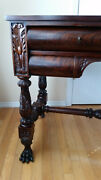 Antique Writing Table Deskvanity Carved Mahogany Sofa Table Paws Shipping 100m