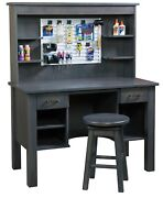 Amish Work Bench Craft Hobbies Desk Home Office Furniture Solid Wood New