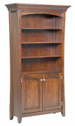 Amish Bookshelf Bookcase Solid Wood Wooden Furniture Office Kitchen New