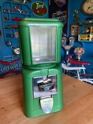 Vintage 1950and039s Bell National 5 Cent Gumball / Candy Vending Machine Nos