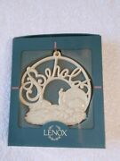 Vintage Lenox Porcelain Behold Baby Jesus Christmas Ornament 3 Inches