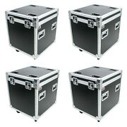 4 Osp 22 Utility Cable Ata Road Case W/ Cater Wheels Rubber Lined