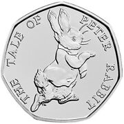 Genuine Tale Of Peter Rabbit 50p 2017 - Circulated Mint Condition
