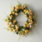 Colorful Yellow Mix Spring Wreath Natural Vine And Twig 20 Diameter