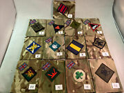 X2 Mtp Army Issued Blank Blanking Patches Ubacs/pcs Regiment Engineer Artillery