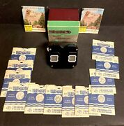 Vintage Sawyer's View-master Stereoscope Focusing Viewer In Box And 12 Reels
