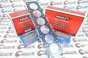 Manley For Supra 2jzgte 3.0l Turbo Pistons And Rods And Arp Studs W/ Gasket 14027-6