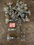 Mepla Concealed Cabinet Hinge And Base Plate Nickel Lot Of 12 Made In Germany