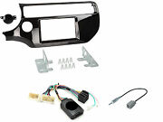 Set Panel Commands Steering Wheel For Monitor Gps Radio 2 Din Kia Rio From 2015