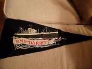 Rms Darro Vintage Ships Pennant Royal Mail Lines
