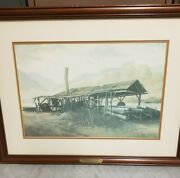 Russell May Framed Print - Old Sawmill