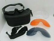 Bobster Goggles Phoenix Bpx001 W/ Carrying Case And 3 Interchangeable Lenses