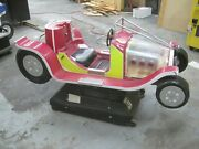 Coin Operated Vintage Antique Hot Rod Race Car Kiddie Ride Candy Pink