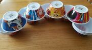 New Kelloggs 4 Cereal Bowls Fruit Loops Frosted Flakes Raisin Bran Rice Krispies
