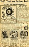 1940 Small Print Ad Of Thrift Vault And Saving Bank Popeye And Lucky Dime Bank