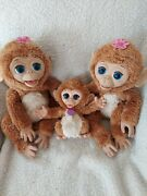 Furreal Friends Cuddles My Giggly Monkey Lot Of 3- Working Plush Animals