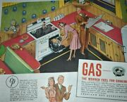 1941 Vintage Print Ad Gas Fuel For Cooking Kitchen Range Confidentially He She