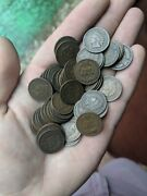Handful Of Good To Better Indian Head Pennies - Old Mixed Date 25 Cent Coin Lot