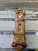 Vintage Inge Glas Grandfather Clock Old World Blown Glass Holiday Ornament Rare