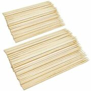 Mcigicm 190pcs 6inch 8inch Natural Wood Bamboo Plant Skewers Sticks For Garden