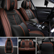 Car Seat Covers Pu Leather Sedan Suv Truck Interior Accessories Universal 5-sits