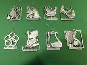 Pewter Port Twelve Days Of Christmas Metal Ornaments - Approx. 2 1/2h - 12 Pcs.