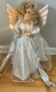 Vintage Telco Motionettes Angel 24andrdquo Christmas Figure W/ Lighted Candle Music