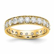 14k Yellow Gold Vintage Diamond Eternity Wedding Band Ring 2.00ctw Msrp 6453