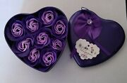 9pcs Heart Scented Bath Body Petal Rose Flower Soap. Gift For Any Occasion