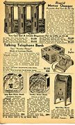 1947 Small Print Ad Of Talking Telephone Bank Mail Box Popeye And Lucky Dime Bank