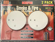 New Kidde 0916llnt Smoke And Fire Alarms - 2 Pack Brand New With 1 Battery