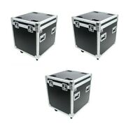 3 Osp Utility Stackable 22 Ata Road Case With Wheels And Hard Foam Rubber Lined