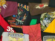 Lot Of 10 Random Menand039s Graphic Tees T-shirts All Size X-large