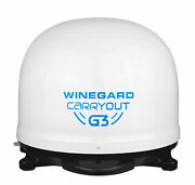 Winegard Carryout G3 Portable Automatic Satellite Tv Antenna White Dome For Rvs