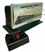 1956 American Flyer 568 Steam Whistling Billboard And Control Button With Org Box
