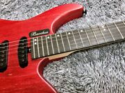 Bacchus G6-hl/ash/e Red/oil Headless Electric Guitar Safe Delivery From Japan