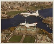 1979 Rcaf Photo 8x10 Challenger And Cosmopolitan Ottawa Over Parliament Hill
