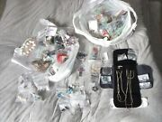 Hundreds Pcs 8 Lots Sterling Silver Costume Jewelry Vintage Earrings Necklaces+