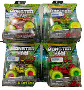 🔥new Set Of 4 Monster Jam Zombie Invasion Special Edition Walmart Excl