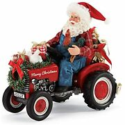 Department 56 Possible Dreams Country Living Jolly Tractor Santa Figurine, 9