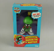 Nos Vtg 1993 Tyco Looney Tunes Talking Marvin The Martian Figure New Sealed Box
