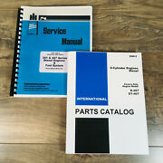 International D-407 Diesel Engine Only For 856 Tractor Service Parts Manual Set