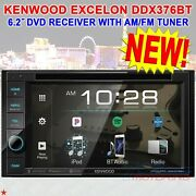 Kenwood Ddx376bt Dvd / Bluetooth 2-din Receiver With 6.2 Resistive Touch Panel