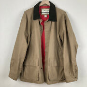 Orvis Menand039s Heritage Field Coat - Tan Khaki Coat Size Xl Very Good Condition